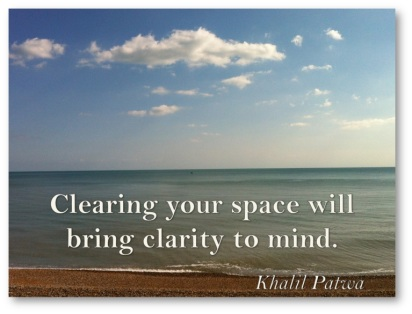Clearing your space…